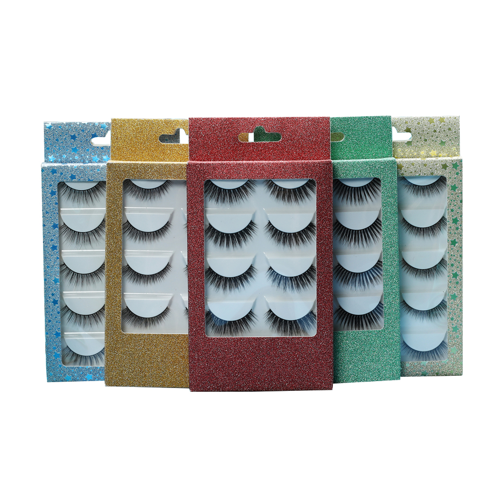 Korean Reusable 3D Silk Lashes Light And Flexible Hot Sale Silk Eyelashes With Custom Packing