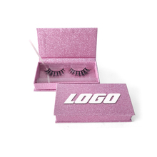 Shuying SY empty unique custom rose gold pink glitter eyelash packaging box