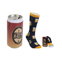 custom colorful designer gift set funny Packing mens fashion dress cotton beer socks sox crew dress socks stock lot for men