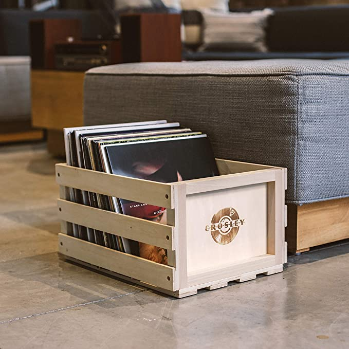 Record Storage Wooden Crate Colorful  Logo Home Decor Gift Box
