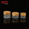 /product-detail/factory-wholesale-cosmetic-bamboo-jar-clear-frosted-glass-cream-jar-with-100-nature-bamboo-wooden-lid-62355430341.html