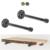 Shelf Brackets 10'' inch Support Rustic Heavy Duty  Industrial Decorative Wall Cast Iron Steel Metal Floating Pipe Shelf Bracket