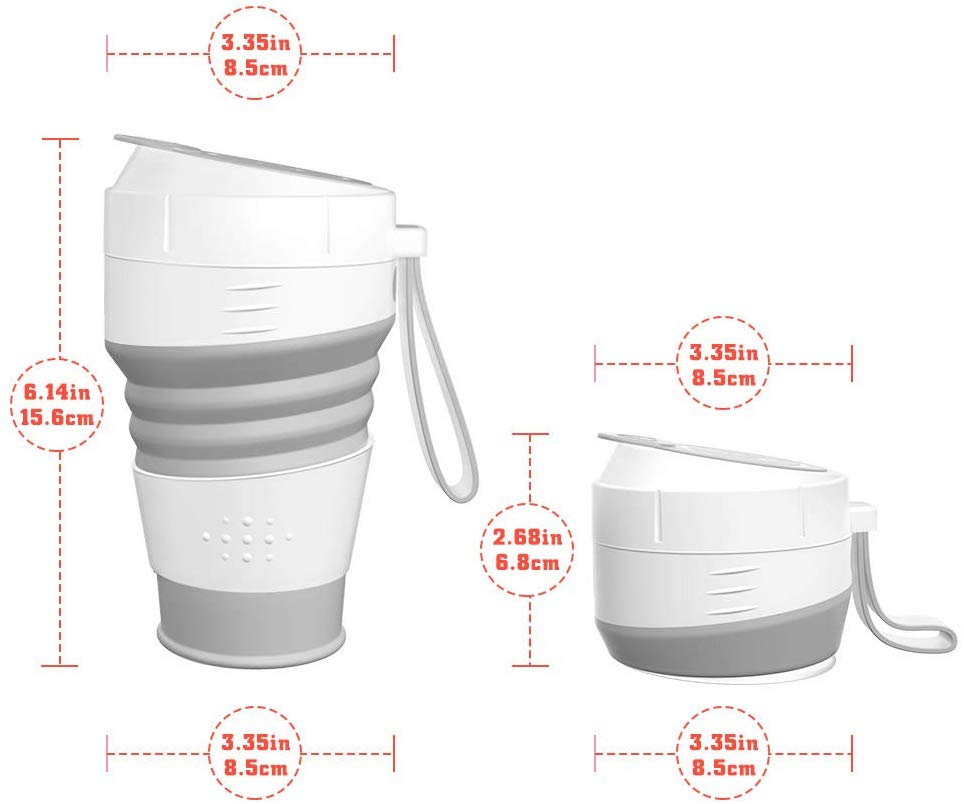 Wholesale Coffee Mug Portable Travel Mug Factory 450ml Silicone Collapsible Cup