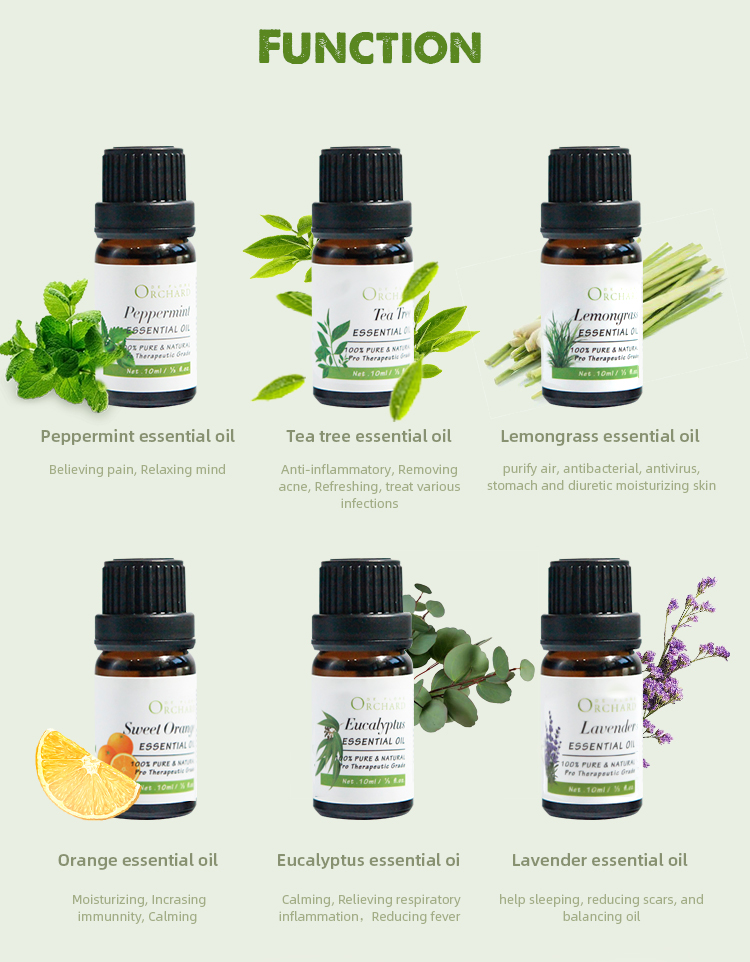 Top Quality Oil Private Label 100% Pure Gift Set  Aromatherapy Lavender Essential Oil