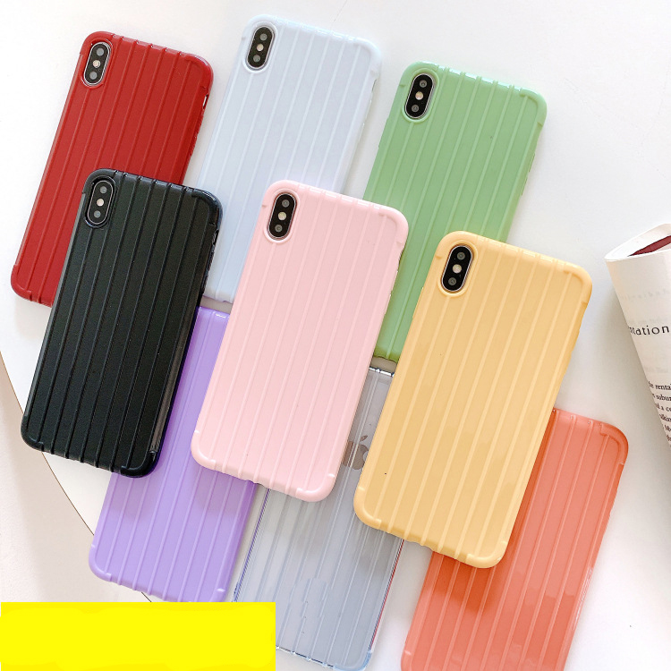 Fashion custom travelled box stripe airbag shockproof jelly soft tpu phone case for redmi 7 renmi7 <strong>y3</strong> back cover case