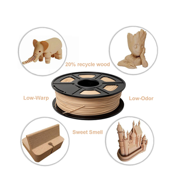 Wood Effect 3D Printer Wood Filament Eco Friendly 3D Printer Filament 1.75mm Pla Wood Material