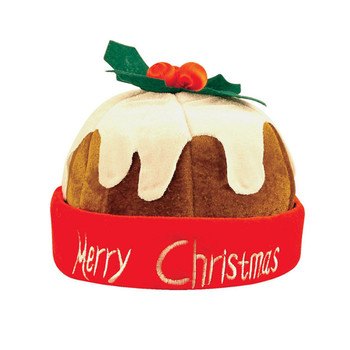 2019 new fun Christmas pudding cap cute cake plush cloth Christmas hat