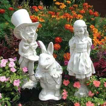 Wholesale Alice in Wonderland Fairy Tale Decoration Marble Statue for Sale