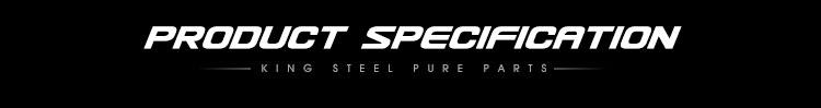 King Steel Factory Price Auto Part Cars Ceramic Brake Disc  for Toyota Vios Corolla Hilux Hiace Hyundai H1 Suzuki