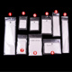 customized clear opp resealable plastic self adhesive bag with hook for small gift jewelry earrings packaging pouch bags