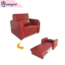 DG GOOD leather sliding foldable transformer single folding sofa cum bed chair modern living room <strong>furniture</strong> for hospital hotel