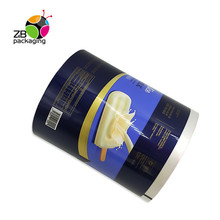 Custom print ice cream packaging laminating food grade pe plastic film <strong>roll</strong>