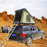 2-3 Person outdoor camping electric remote car hard shell roof top triangle tent
