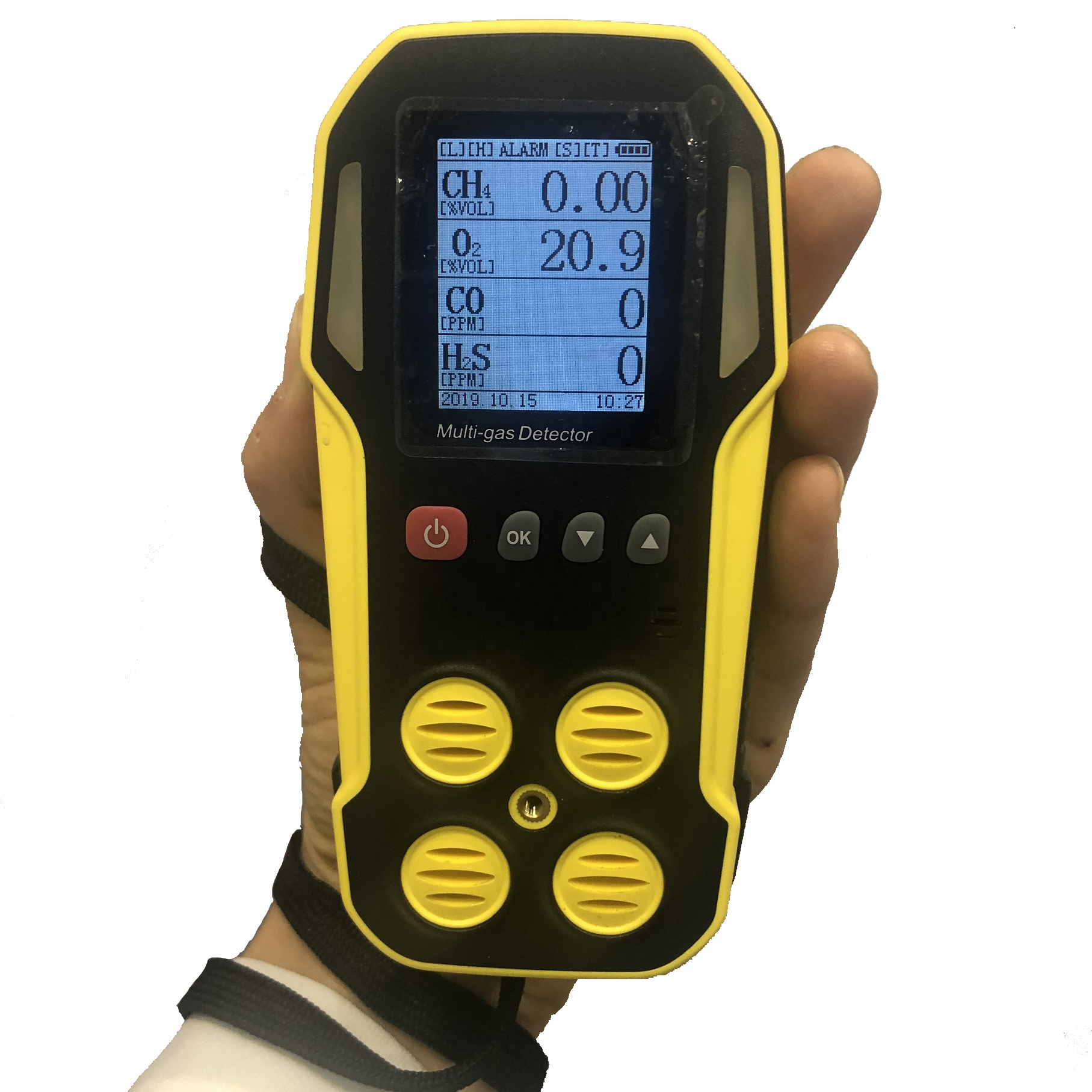 3 Alarms Portable explosive <strong>gas</strong>, CO, H2S and Oxygen analyzer Multi 4 <strong>gas</strong> detecting monitor with rechargeable battery