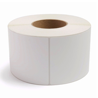 custom printing white self adhesive shipping thermal label rolls