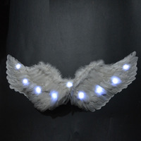 New Light Up Angel Feather Wings Photo Prop Birthday Party Supplies Holiday DIY Decorations Glow LED Party Large Size