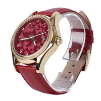 2019 Fashion Diamond Bezel 3D Butterfly Dial Stainless Steel Case Japan Movement Female Leather For Ladies date watch