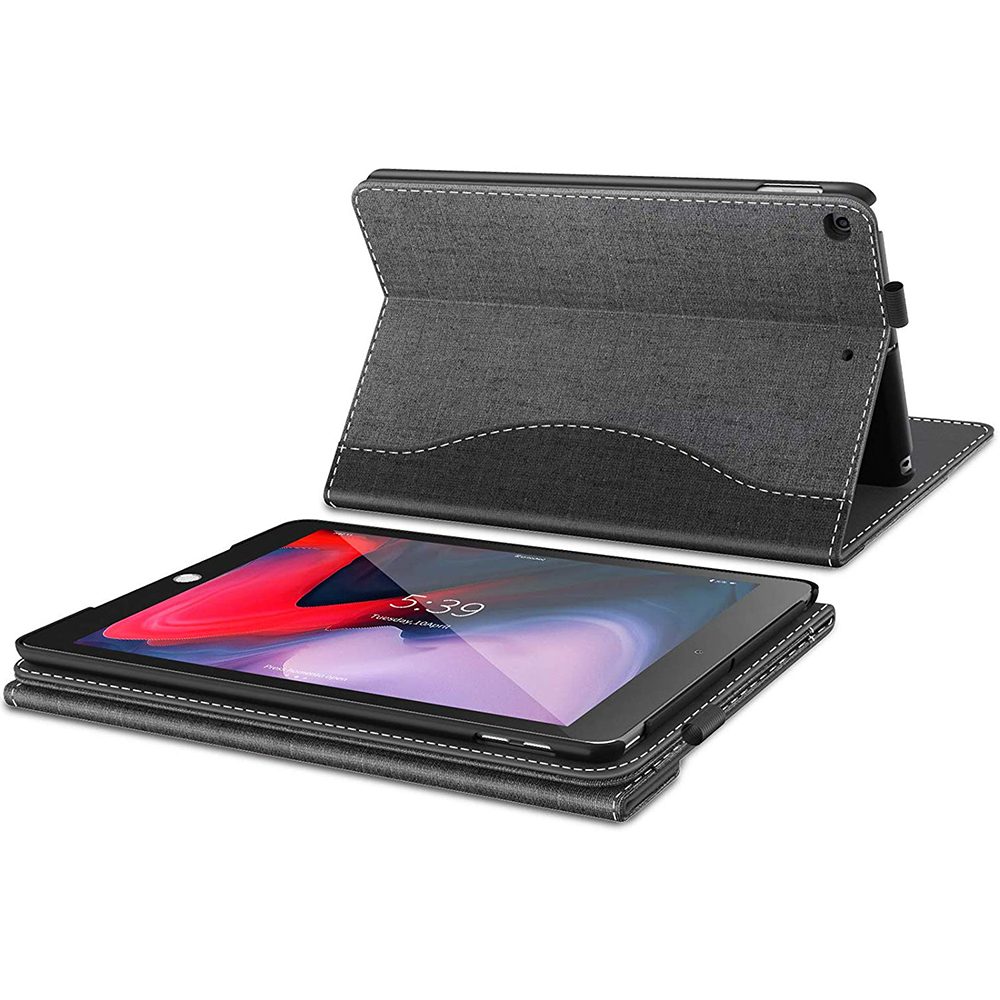 Tablet Case for iPad 7th Generation 10.2 inch 2019 , Business Folio Case with pocket for iPad 10.2 inch 2019
