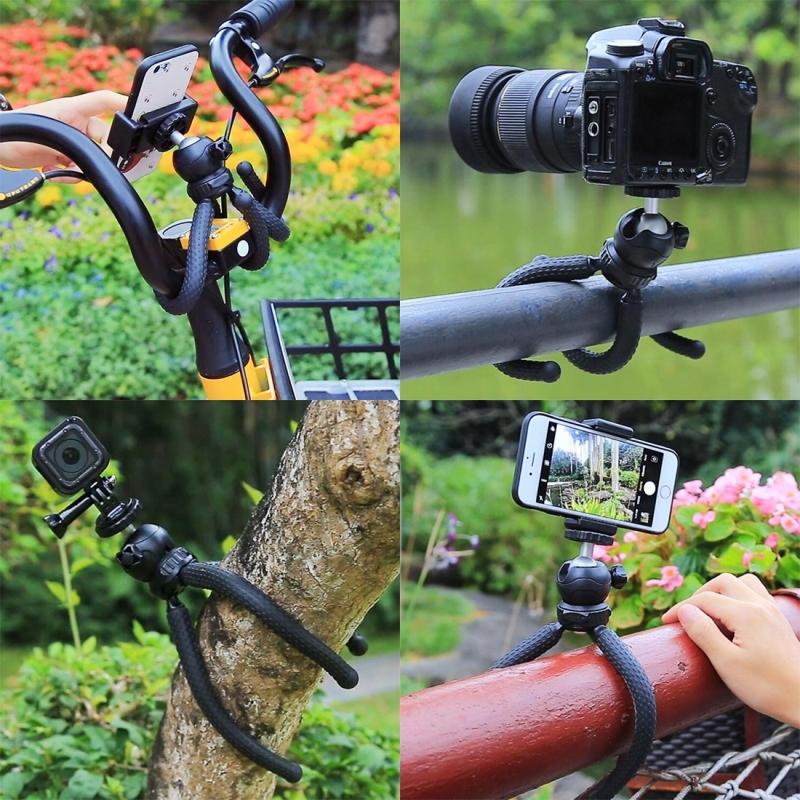 PULUZ Mini Octopus Flexible Tripod Holder For SLR Cameras, GoPro, Cellphone, Size: 25cmx4.5cm