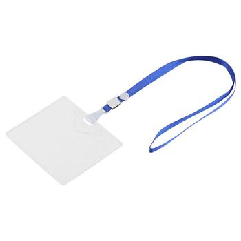 wholesale custom waterproof badge holder and Detachable lanyard/strap for id card metro card business credit card work ID card