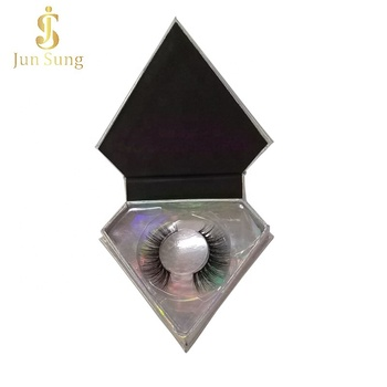 Private Label Bulk Lash Boxes Custom Diamond Shaped Eyelash Packaging Box
