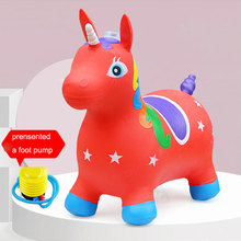 Built-in Music Player Children's Inflatable Toys Animal Inflatable Unicorn Jumps Horse