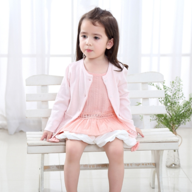 KS8010 Wholesale Little Girl's Boutique sweet long sleeve dress