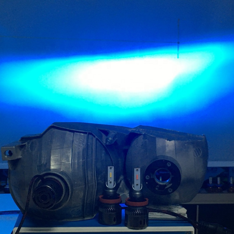 Mini K3 led headlight dark <strong>blue</strong> hid color <strong>bulb</strong> replacement H1 H7 H11 <strong>H10</strong> easy installation auto led headlight