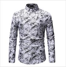 2019 New Autumn <strong>Men</strong> Clothes Long Sleeve Printed Plain Plus Size <strong>Men</strong> Casual <strong>Shirt</strong>