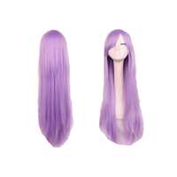 "32"" 80cm Fashion Women's Cosplay Hair Wig Long Straight Hair Heat Resistant Costume Party Full Wigs"