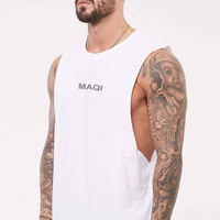 Wholesale latest fashion mens gym tank top stringer fitness design your own logo