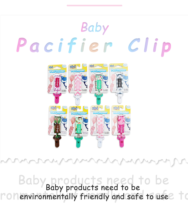 colorful chain soother holder baby teether pacifier clips wood