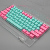 Cyan  Blue Pink  OEM Height Backlit  Double Shot 104 Keys PBT Keycaps For Mechanical Keyboard
