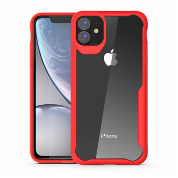 "NEW For iphone 2019 6.1"" Armor Case PC + TPU Shock proof Cover Skin Clear Hybrid Phone Case"