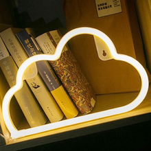 Lovely cloud <strong>rgb</strong> mini pvc custom flexible led neon table flex sign light
