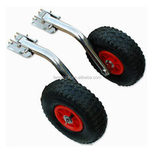 Folding Type Long Leg Launching Wheels Dinghy Marine RIB Stainless Steel Boat Carrier Launcher