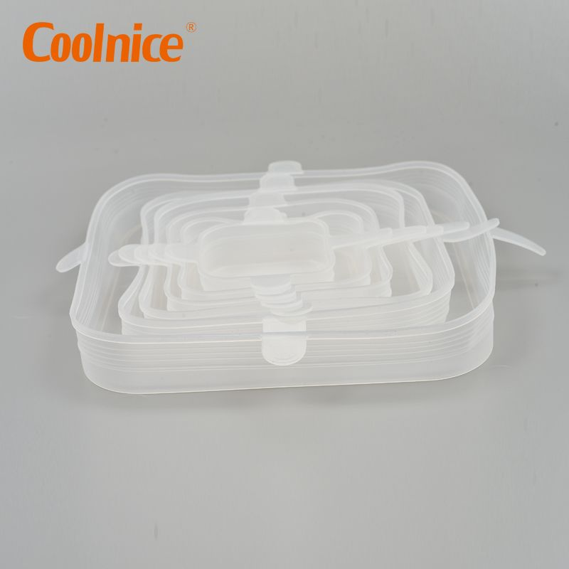 Reusable Airtight Food Storage Covers,Square Silicone Stretch Lid, Food Container Covers