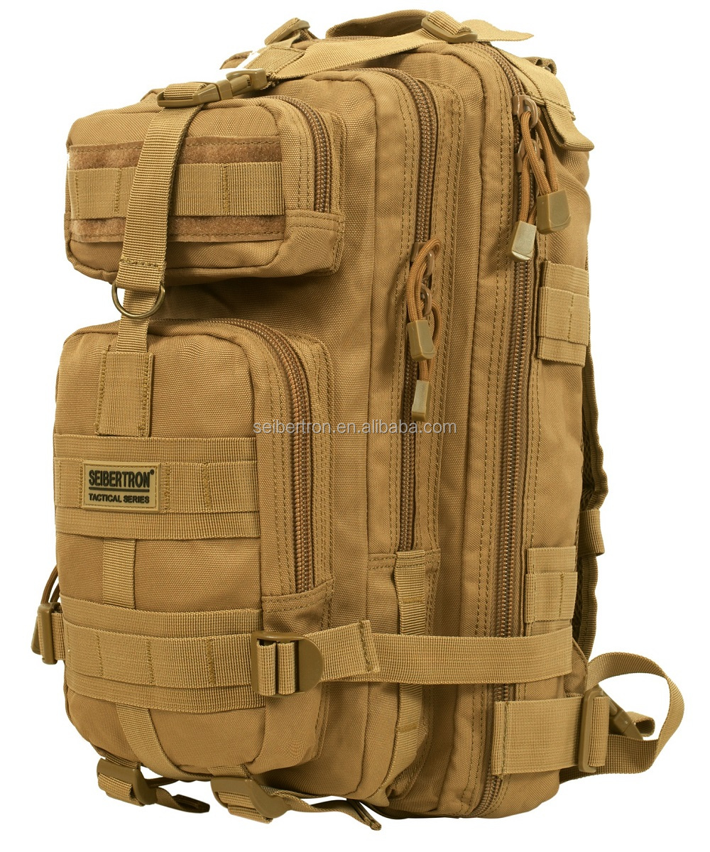 Seibertron S.<strong>J</strong>.B.B-<strong>2</strong> Falcon EDC Backpack 27L Military Tactical Backpack Small Assault Pack Army Molle Bug Out Bag Backpacks
