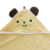 Custom Bamboo Terry Unisex Yellow Baby Animal Face Hooded Towel Set