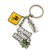 Factory Direct Cheap Custom Metal Die Cut Double Sided Medal Keychain