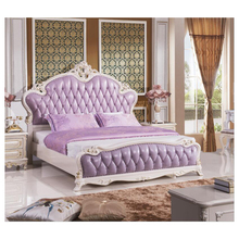 modern european solid wood bed Fashion Carved 1.8 m bed french bedroom <strong>furniture</strong> xhc0012