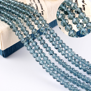 New Fashion Crystal Glass Beads Rondelle Beads