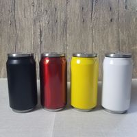 great Travel Gifts Insulated 350ml Stemless Cola Beer double wall Travel Vacuum stainless steel can bottle with lid