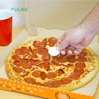 Take out catering disposable white pizza box tripod stack plastic pizza savers /stands/stax