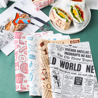 40gsm 60gsm PE coated custom logo food burger packaging sandwich wrapping paper