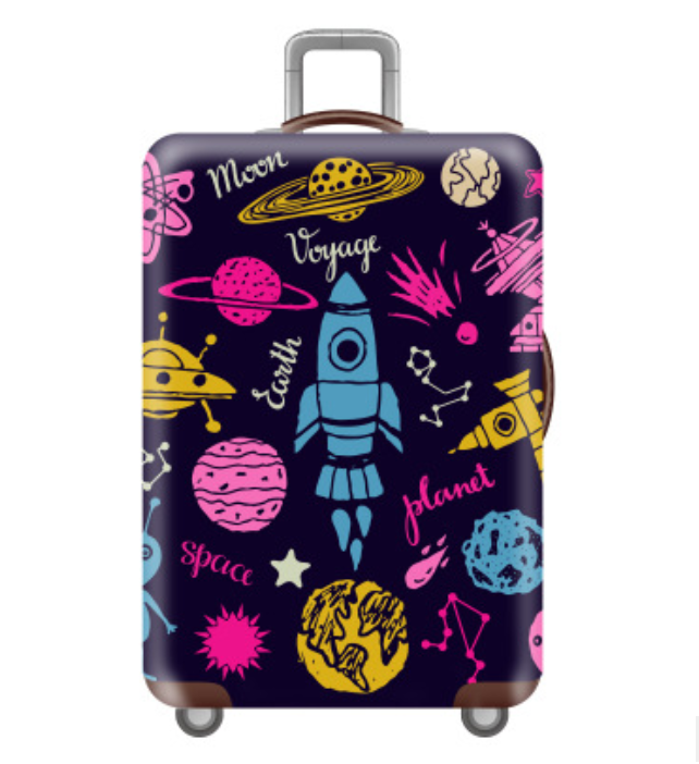 Wholesale Fashion Flower Dance Spandex Elastic Luggage <strong>protector</strong> Cover Travel Suitcase cover Apply to 18-32 Inches