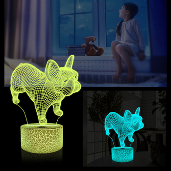 16 Changing Color Remote Control LED Kids Room Decor Lighting 3D Led Illusion Lamp 3D Night Light for Girls Birthday Gift