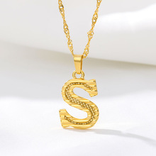 Stainless Steel Gold Plated Initial <strong>Necklace</strong> Jewelry For Women, 2020 New Initial <strong>Necklace</strong>