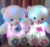 HI CE white sitting teddy bear with blue sweater cuddly plush toy