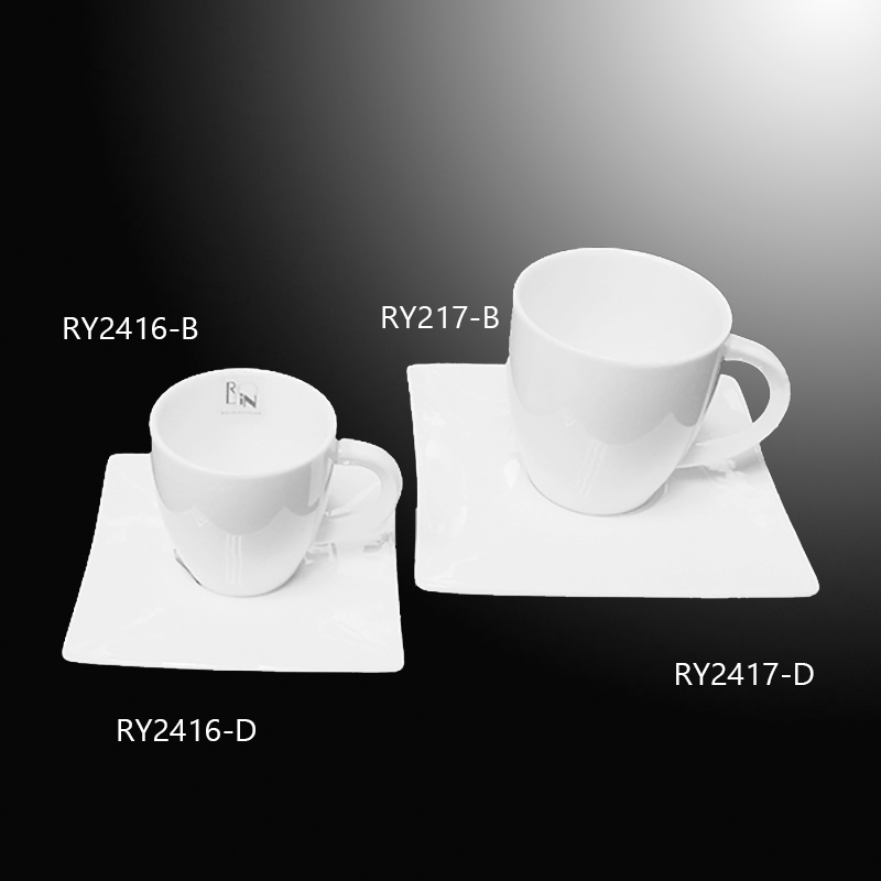 Restaurant cups Square Coffee Cup Espresso cup set